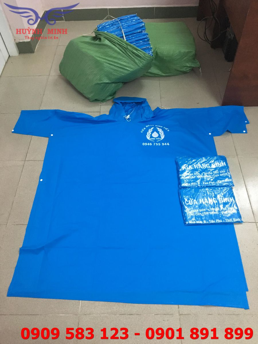 Quy trình sản xuất áo mưa theo yêu cầu tại Huỳnh Minh